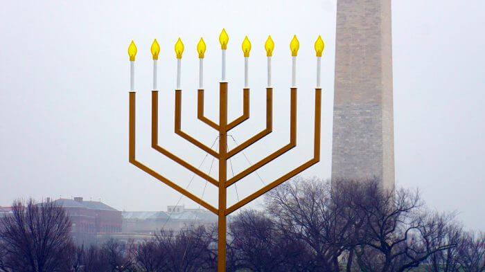 The National Menorah in Washington, DC. (Source: Flickr, Ted Eytan)