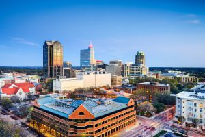 The prestigious Research Triangle is located in Raleigh, NC.