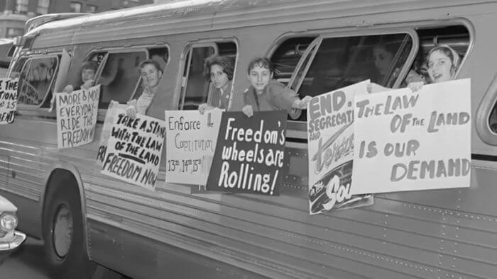 The original Freedom Riders inspired many other movements, like this one in Utah. (Source: KUED Channel 7)