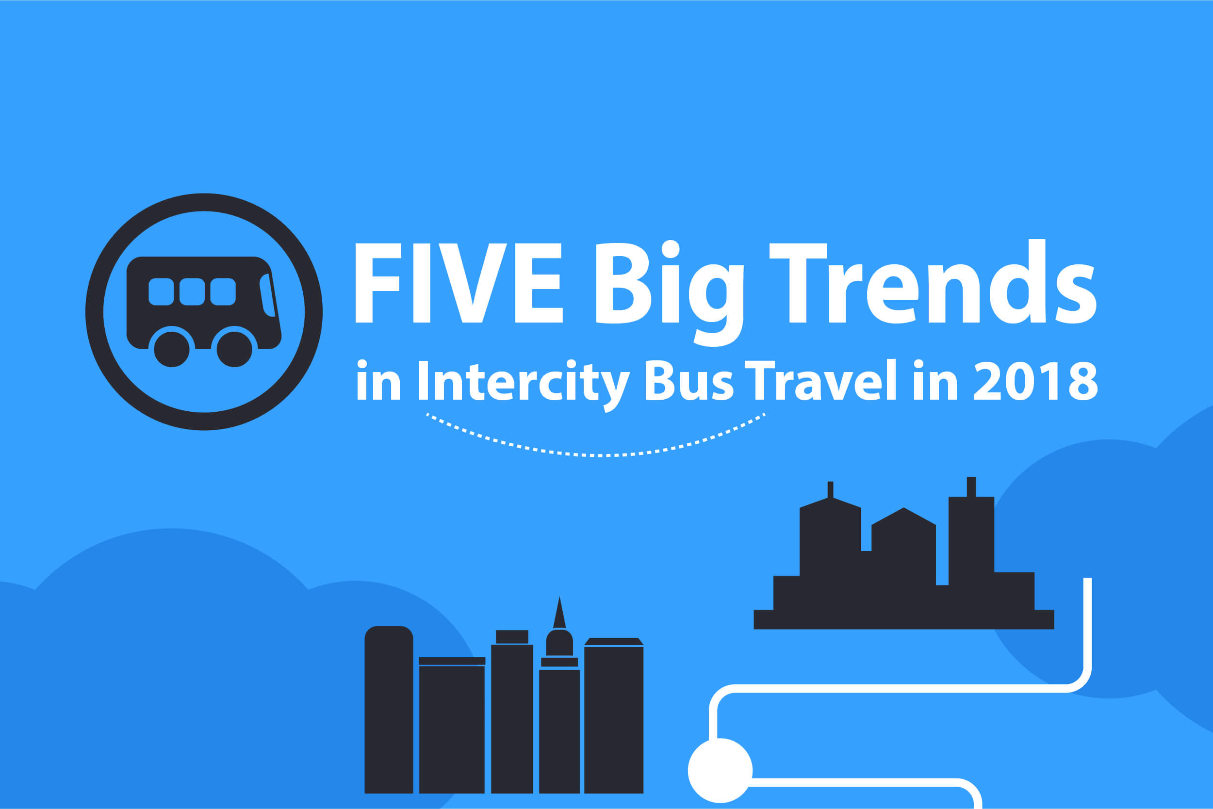 US intercity bus travel trend in 2018
